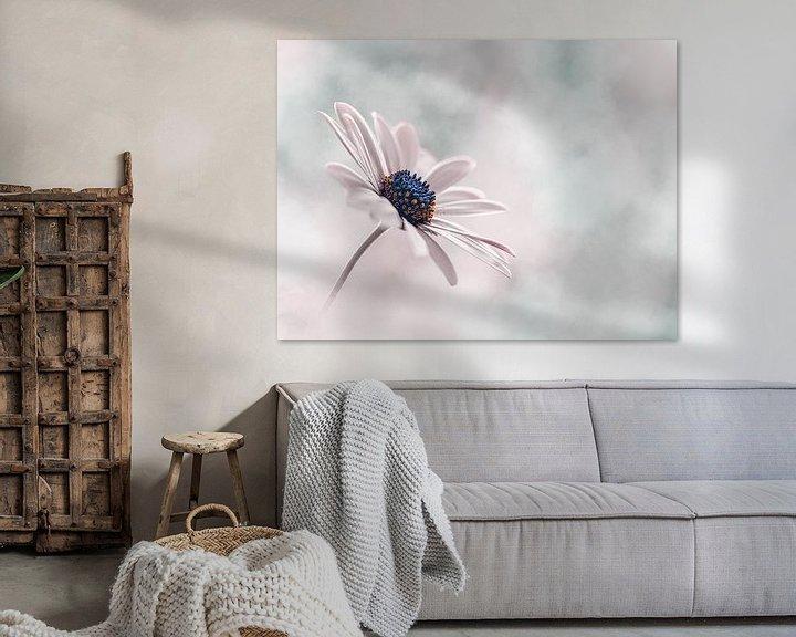 Beispiel: Zarte rosa und blaue Blume von Kyle van Bavel