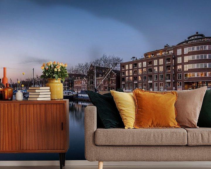 Sfeerimpressie behang: De oude haven Vlaardingen van Martijn Barendse