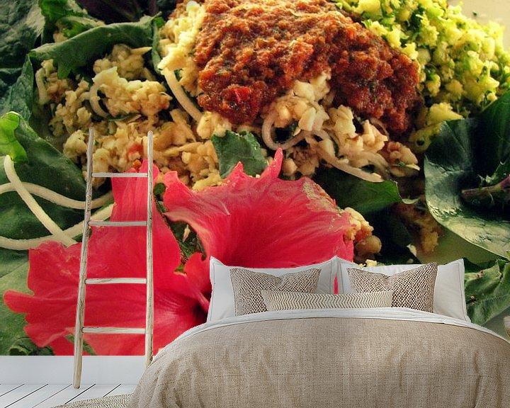 Sfeerimpressie behang: Een Tropische raw food lunch van Daphne Wessel
