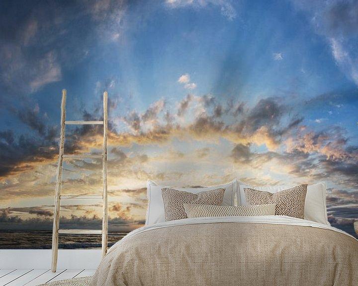 Sfeerimpressie behang: schitterende zonsondergang in Frankrijk van Arjen Schippers