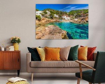 Prachtig uitzicht op Sant Elm, Mallorca Spanje, Middellandse Zee van Alex Winter