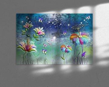 Bloemen fantasiewereld van Shirley Hoekstra