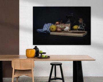 Stilleven keukentafereel van René Ouderling