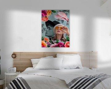 Collage mit Mann und Frau von Lida Bruinen