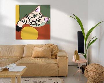 Vintage Katze von Mad Dog Art