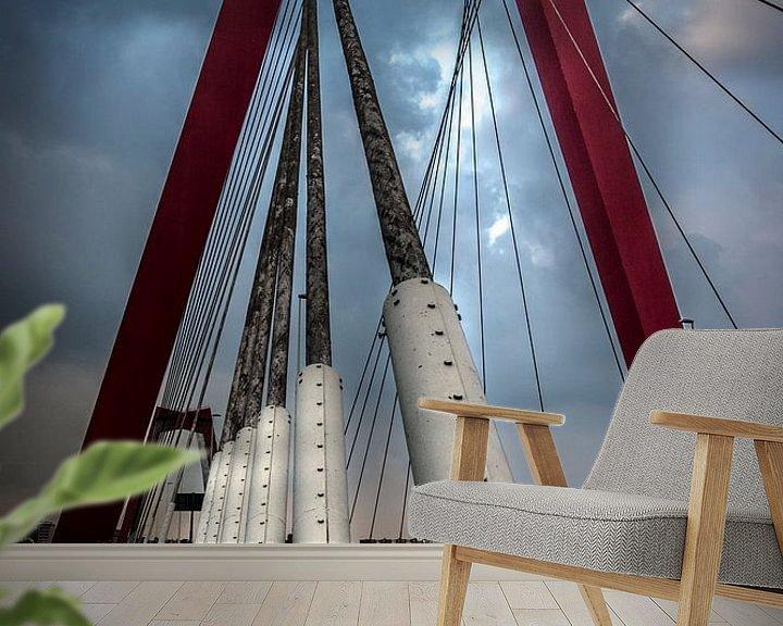Sfeerimpressie behang: De Willemsbrug van Martijn Barendse