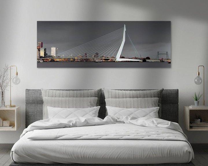 Sfeerimpressie: Bewolkte skyline van Rotterdam van Miranda van Hulst