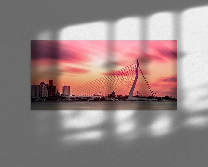 Impression: Colorful Rotterdam city skyline sur Miranda van Hulst
