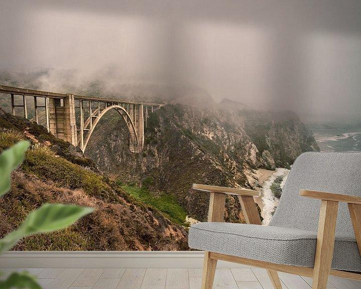 Sfeerimpressie behang: Bixby Creek Bridge van Wim Slootweg
