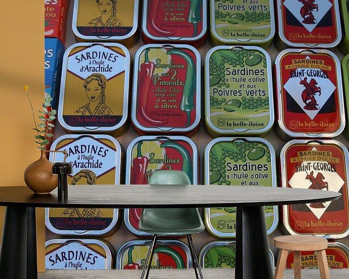 Sfeerimpressie behang: Sardines van Frans Versteden