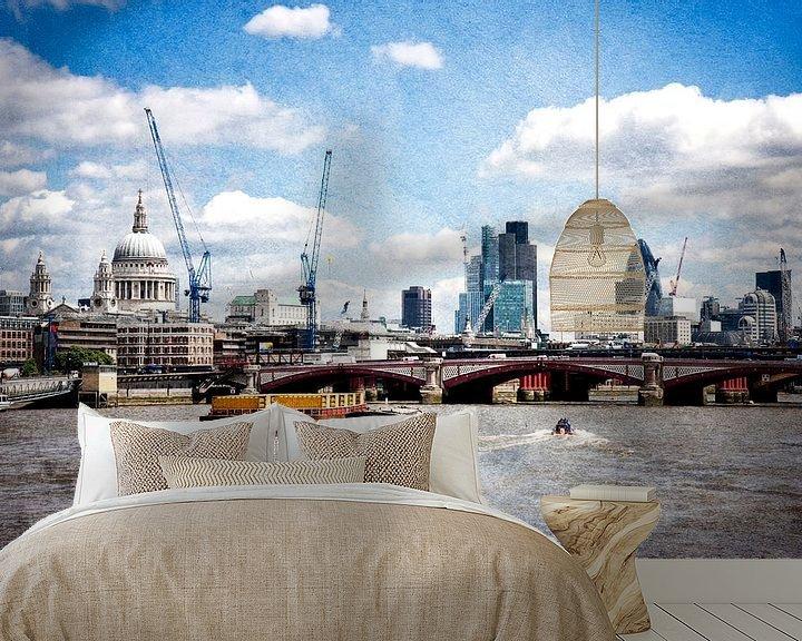 Sfeerimpressie behang: London van Anja Daleman