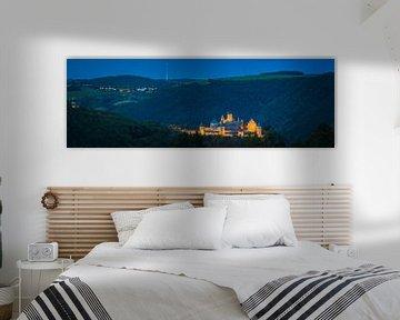 Panorama van het kasteel Bourscheid