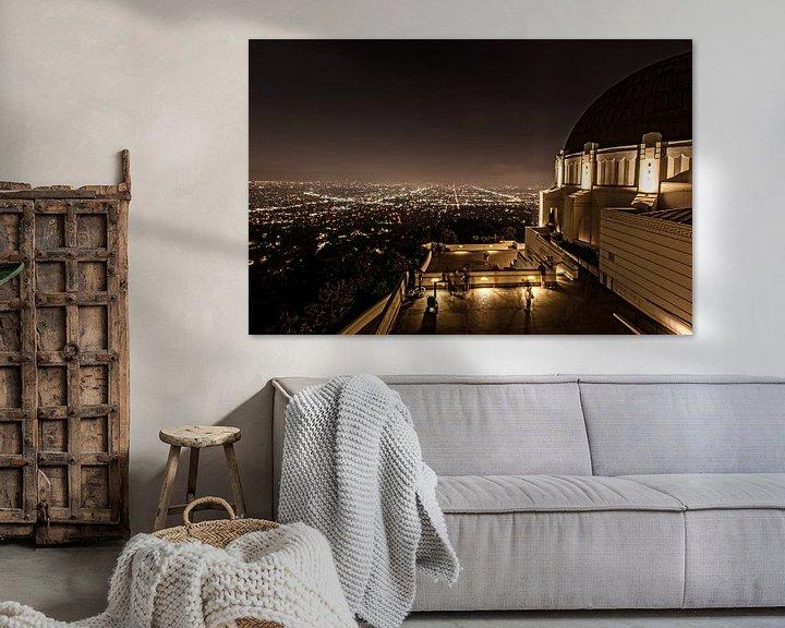 Sfeerimpressie: Los Angeles as seen from Griffith Observatory van Wim Slootweg