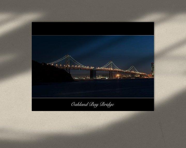 Sfeerimpressie: Oakland Bay Bridge van Wim Slootweg