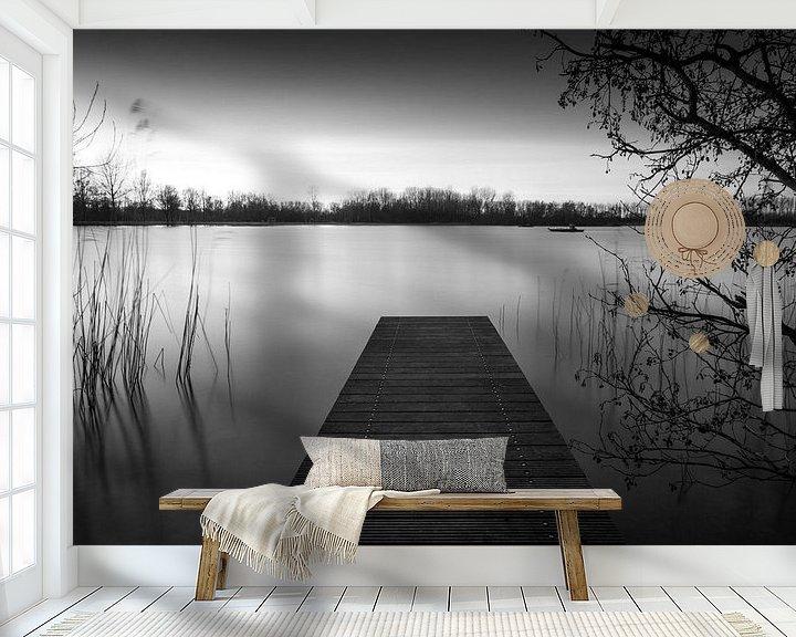 Sfeerimpressie behang: Steiger in het Haarlemmermeerse Bos van Wim Slootweg