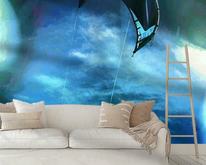 Sfeerimpressie behang: kiten van Yvonne Blokland