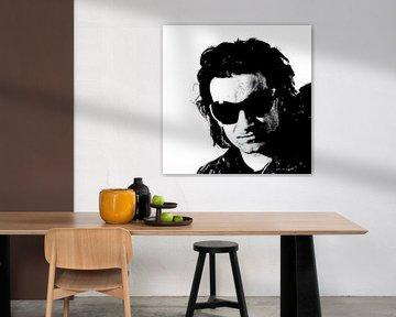 BONO mit schwarzer Sonnenbrille von Herman de Langen