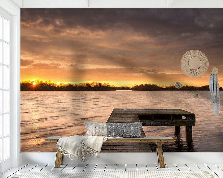 Sfeerimpressie behang: Warme winter van robert wierenga