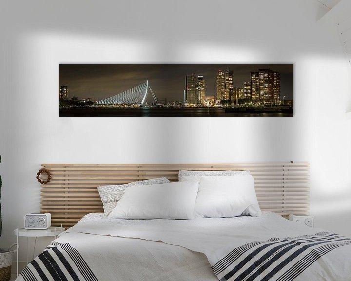 Impression: Panoramic view of the skyline of Rotterdam sur Miranda van Hulst
