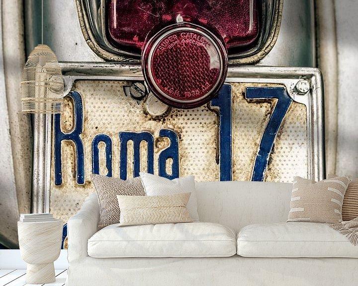 Sfeerimpressie behang: Roma: Vintage Vespa   van juvani photo