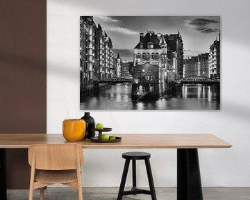 Hamburger Speicherstadt in schwarzweiß von Tilo Grellmann | Photography