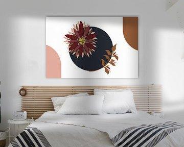 Moderne Malerei - Blumenillustration von Studio Hinte