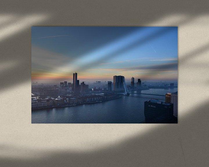Sfeerimpressie: Vroege winterochtend in Rotterdam  van Marcel van Duinen