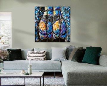 50 mehrfarbige Blau- und Lila-Töne von Christel De Buyser