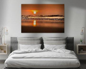 Sonnenuntergang an der Nordseee von Stephan Zaun
