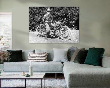 Trotse eigenaar van een Moto Guzzi C4V 1925 van Timeview Vintage Images
