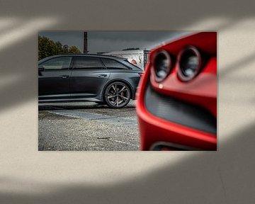 Audi RS6 Avant en Ferrari F8 Tributo van Bas Fransen