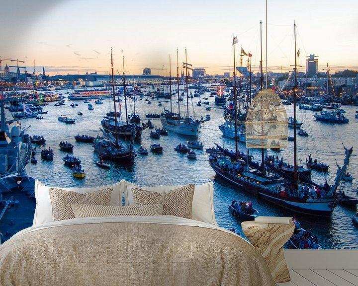 Sfeerimpressie behang: Sail Amsterdam van Alex Hiemstra