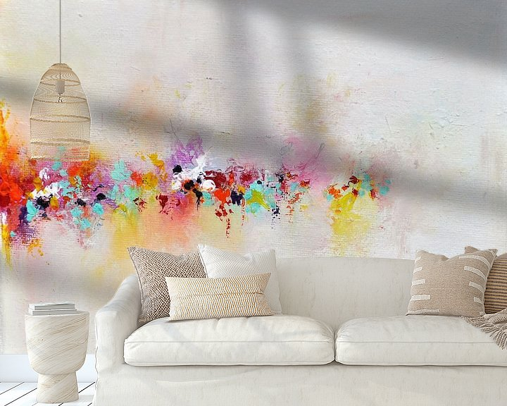Sfeerimpressie behang: Rainbow Horizon van Maria Kitano