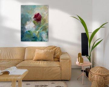 abstract schilderij van bloemen van Paul