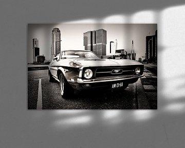 Ford Mustang in Rotterdam van Vincent van Kooten