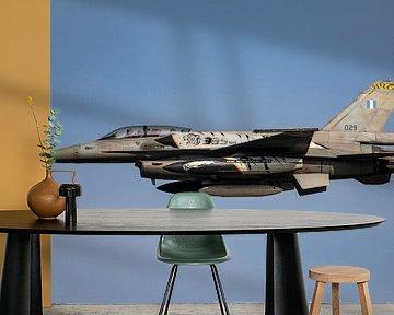 Take off van een Griekse F-16 Fighting Falcon met naverbrander! van Jaap van den Berg