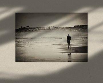 Eénzaam op het strand van Rouzbeh Tahmassian