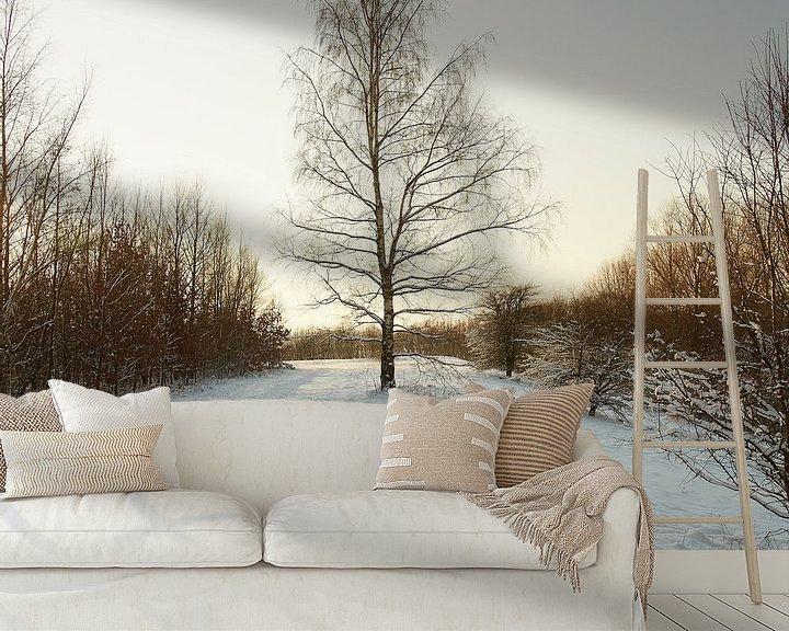Sfeerimpressie behang: winter@zwevegem van Bart Colson