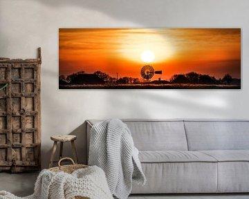 Zonsondergang nabij Grutte Wierum sur Harrie Muis
