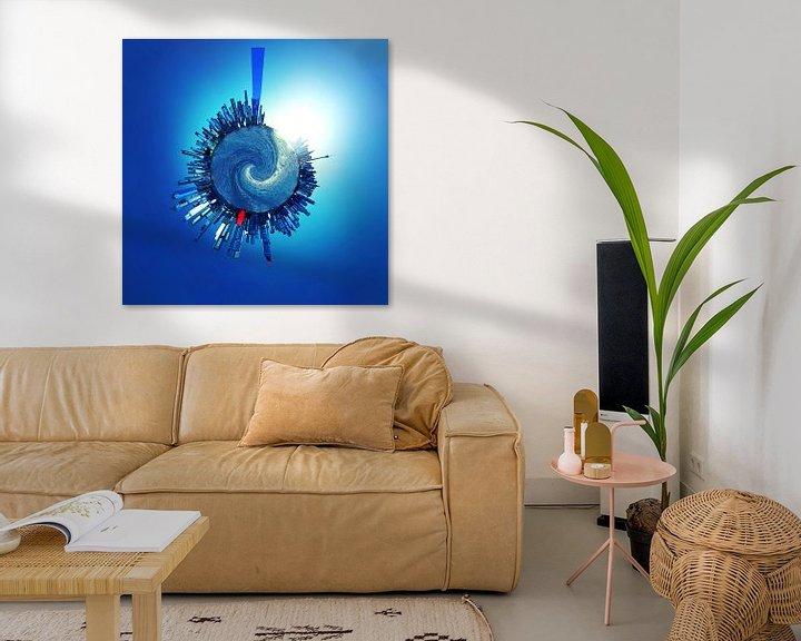 Beispiel: Blue city_TinyPlanet von Herman de Langen