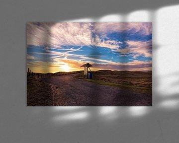 """Die Düne """"Falga"""" in Den Helder mit einem schönen Sonnenuntergang sur eric van der eijk"""