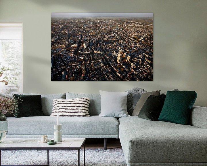 Sfeerimpressie: Utrecht vanuit de lucht van Mark Leeman