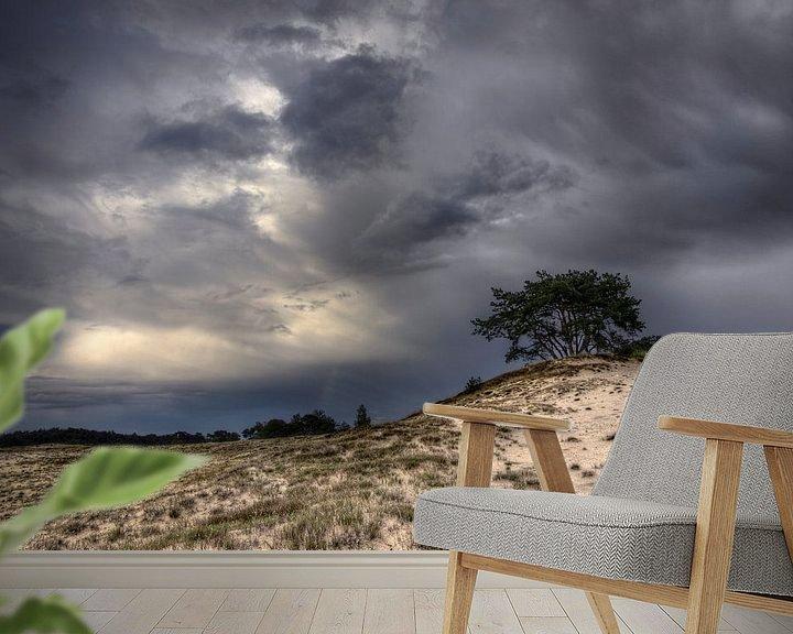 Sfeerimpressie behang: Bomen en duinen III van Mark Leeman