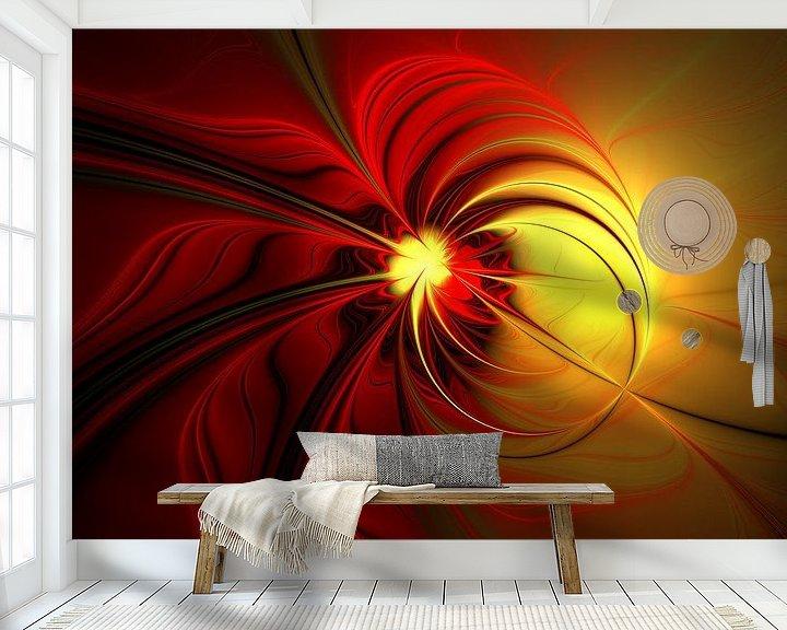 Beispiel fototapete: Magie in Rot-Gold von gabiw Art