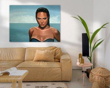 Angelina Jolie schilderij von Paul Meijering