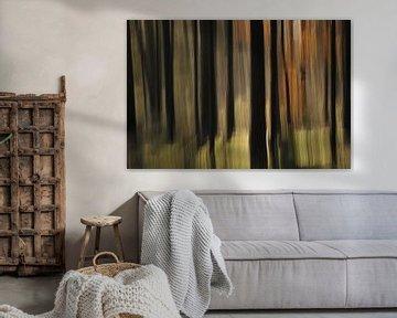 Abstracte herfst van Jan Paul Kraaij