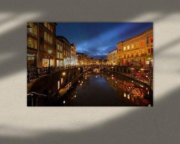 Oudegracht in Utrecht - Stadhuisbrug von Donker Utrecht