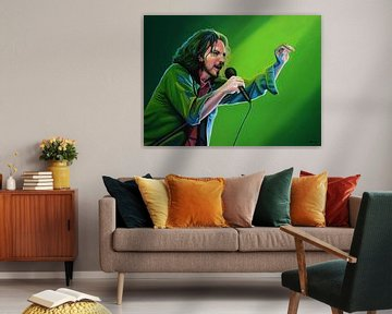 Eddie Vedder | Pearl Jam Malerei von Paul Meijering