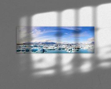 Jökulsárlón Gletschersee Panorama von Sjoerd van der Wal
