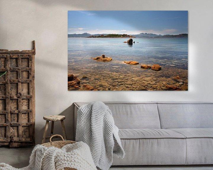 Sfeerimpressie: Kust van Isola Caprera, Sardinië van Mark Leeman